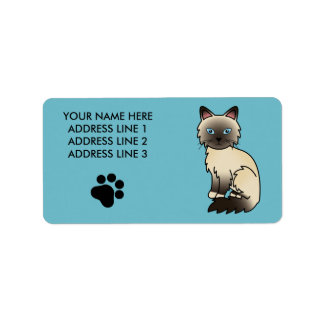 Seal Point Birman / Ragdoll Cat Address Label