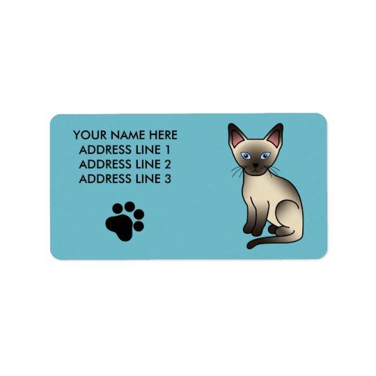 Seal Point Siamese Cat Address Label