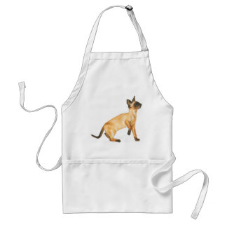 seal point siamese cat apron