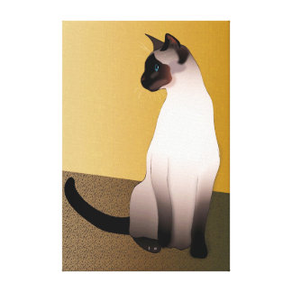 Seal Point Siamese Cat Canvas Print
