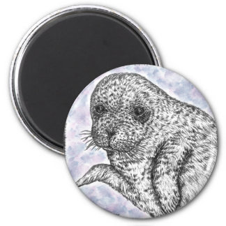 Seal Pup Refrigerator Magnet