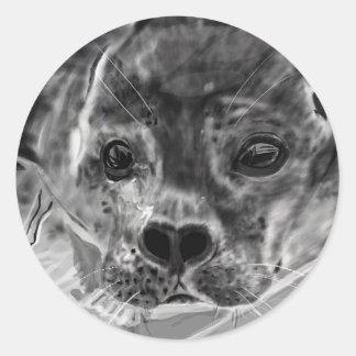 Seal Pup Round Sticker