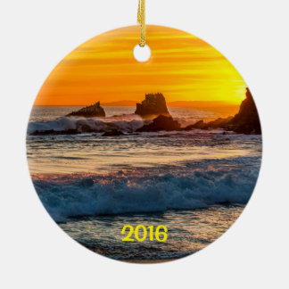 Seal Rock Laguna Beach Ceramic Ornament