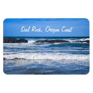 Seal Rock Oregon Coast On Pacific Ocean Rectangular Photo Magnet
