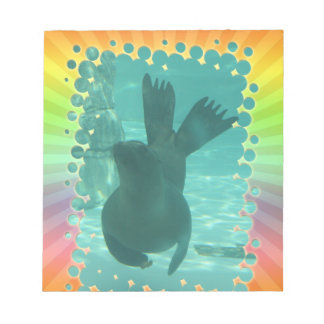 SEAL UNDERWATER DANCE NOTEPAD