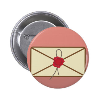 Sealed Envelope Vector 6 Cm Round Badge