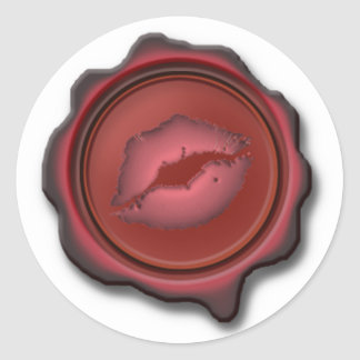SEALED WITH a KISS by SHARON SHARPE Classic Round Sticker