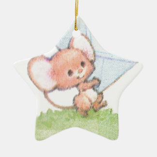 Sealed With A Kiss Mice Love Letter Ceramic Star Decoration