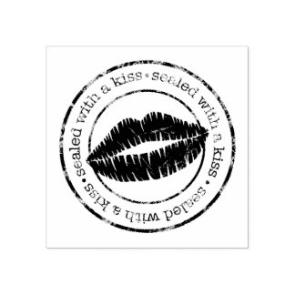Sealed with a Kiss Rubber Stamp