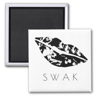 Sealed With A Kiss - Tropical Style Square Magnet