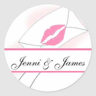 Sealed with a Kiss Wedding Favour Stickers