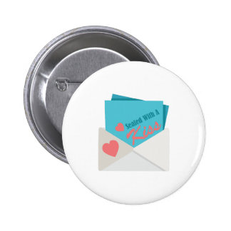 Sealed With Kiss 6 Cm Round Badge
