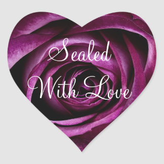 Sealed with Love Purple Rose Sticker
