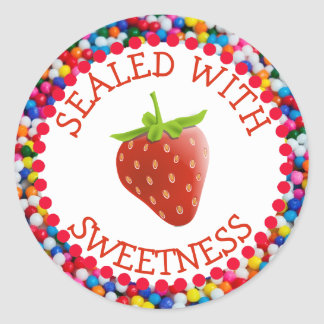 Sealed with Sweetness Strawberry Stickers