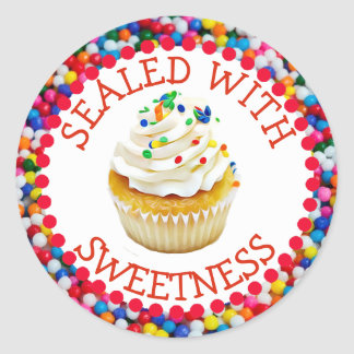 Sealed with Sweetness Vanilla Cupcake Stickers