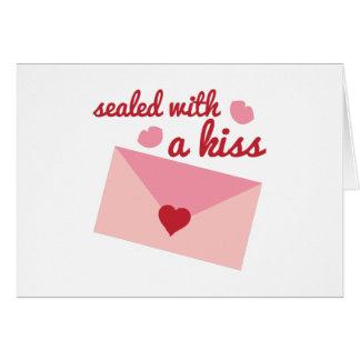 Sealed Wtih Kiss Greeting Card
