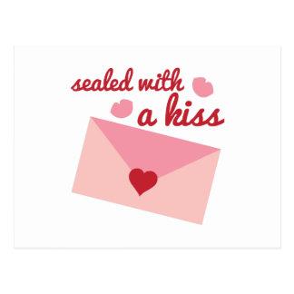 Sealed Wtih Kiss Postcard