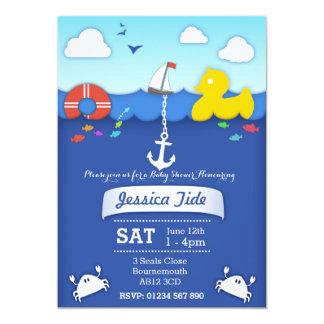 Sealife nautical Baby shower custom Invitation