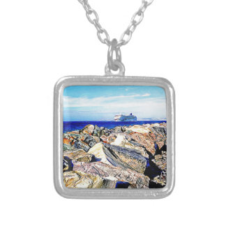 SeaLink Ferry Silver Plated Necklace