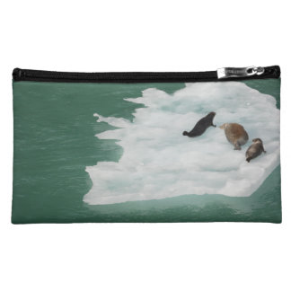 Seals on an Iceberg Bag Cosmetic Bags