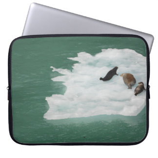 Seals on an Iceberg Laptop Sleeve
