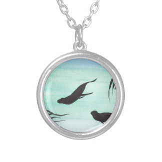 Seals Underwater Silver Plated Necklace