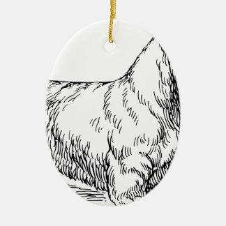 Sealyham Dog Ceramic Ornament