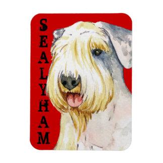 Sealyham Terrier Color Block Rectangular Photo Magnet