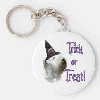 Sealyham Terrier Trick or Treat Key Ring