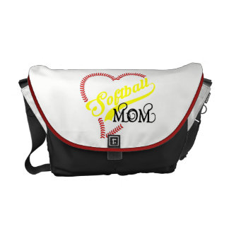 Seam Stitch Heart Softball Mom Seam Bag Tote Purse Courier Bags