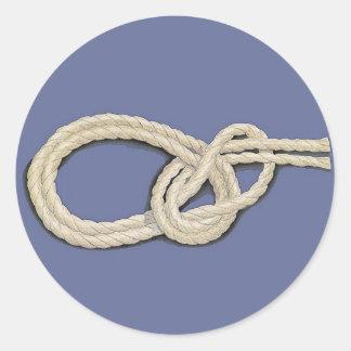 Seamen's Knots Classic Round Sticker