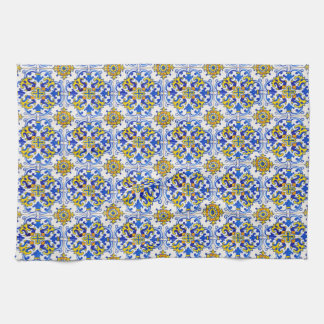 Seamless Azulejo Art Tile Towel