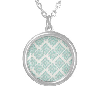 Seamless background silver plated necklace