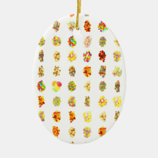 Seamless Candy and Candies Pattern Background Ceramic Ornament