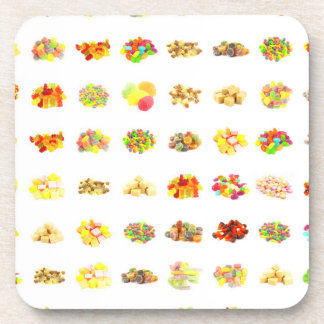 Seamless Candy and Candies Pattern Background Coaster