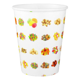 Seamless Candy and Candies Pattern Background Paper Cup