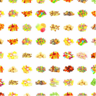 Seamless Candy and Candies Pattern Background Photo Sculpture Badge