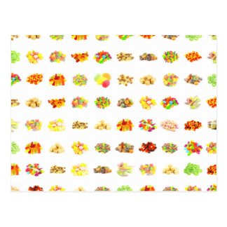 Seamless Candy and Candies Pattern Background Postcard
