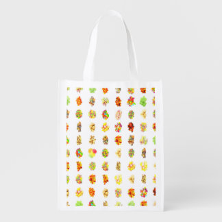 Seamless Candy and Candies Pattern Background Reusable Grocery Bag