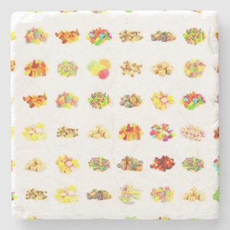 Seamless Candy and Candies Pattern Background Stone Coaster
