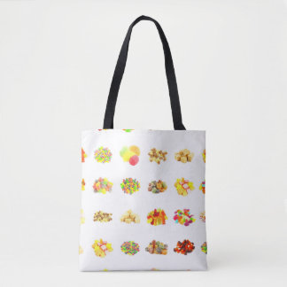 Seamless Candy and Candies Pattern Background Tote Bag