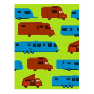 Seamless Caravan Pattern Postcard