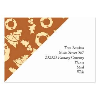 Seamless Christmas Pattern golden Business Cards
