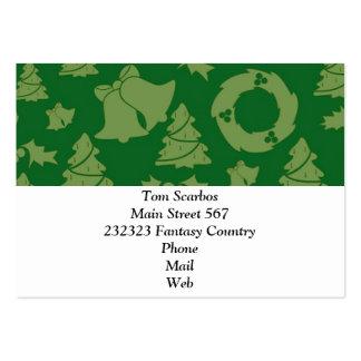 Seamless Christmas Pattern green Business Card