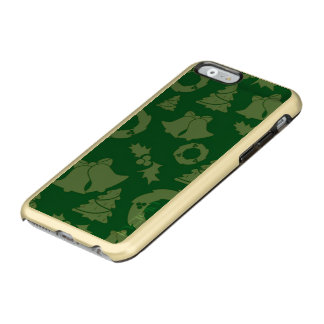 Seamless Christmas Pattern green Incipio Feather® Shine iPhone 6 Case