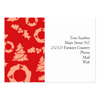 Seamless Christmas Pattern red Business Card Templates