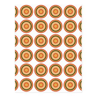 Seamless Colorful Abstract Modern  Circle Postcard