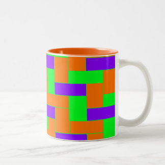 Seamless Colourful Pattern of Symmetric oblong Two-Tone Coffee Mug