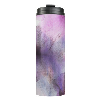 seamless cubism purple abstract art thermal tumbler