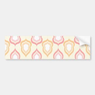 Seamless damask pattern bumper sticker